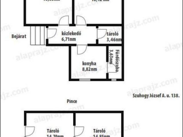 Eladó családi ház, Szuhogyon 1.9 M Ft, 2 szobás