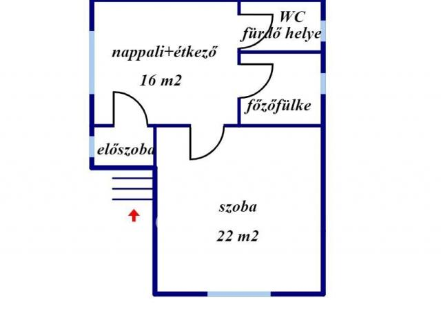 Eladó családi ház, Adácson 7 M Ft, 1 szobás