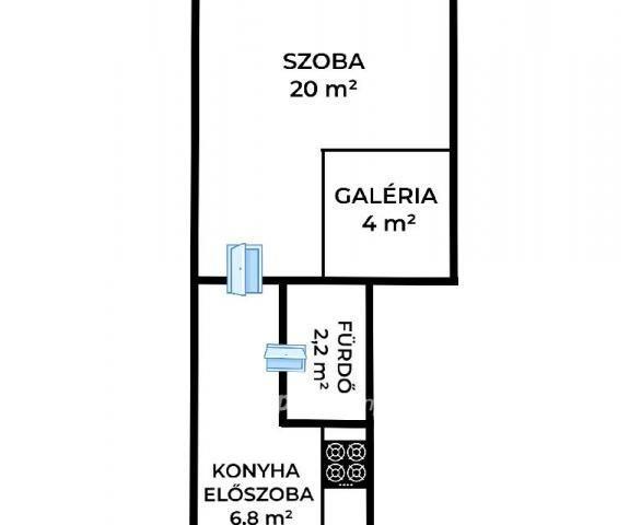 Eladó téglalakás, Budapesten, VIII. kerületben, Fecske utcában
