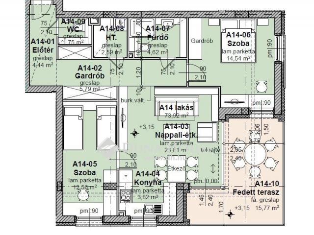 Eladó téglalakás, Balatonfüreden 140 M Ft, 3 szobás