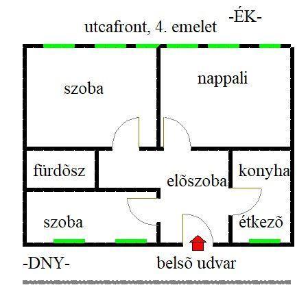 Eladó téglalakás, Budapesten, XIII. kerületben 49.8 M Ft