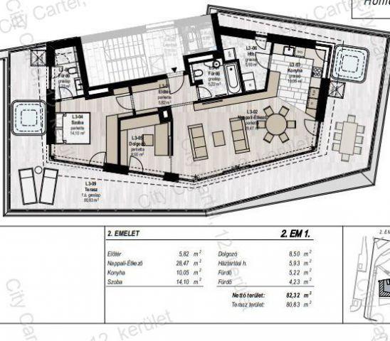 Eladó téglalakás, Budapesten, II. kerületben 141.759 M Ft