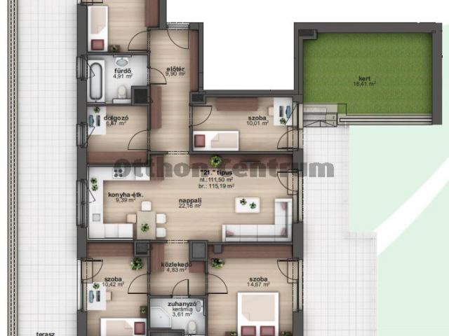 Eladó téglalakás, Budapesten, XIII. kerületben 148 M Ft