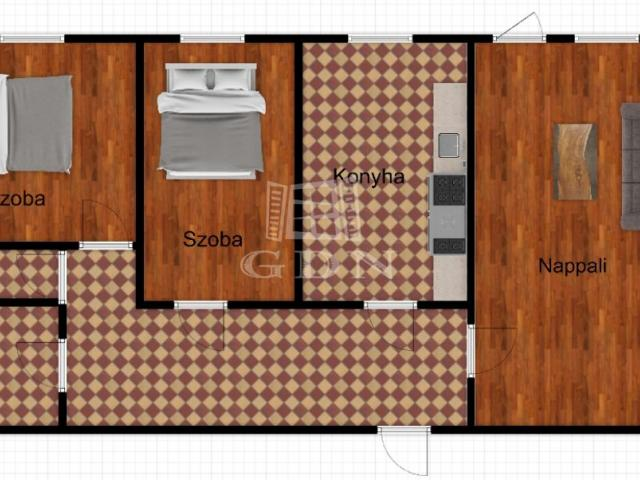 Eladó téglalakás, Zalaegerszegen 19.5 M Ft, 3 szobás