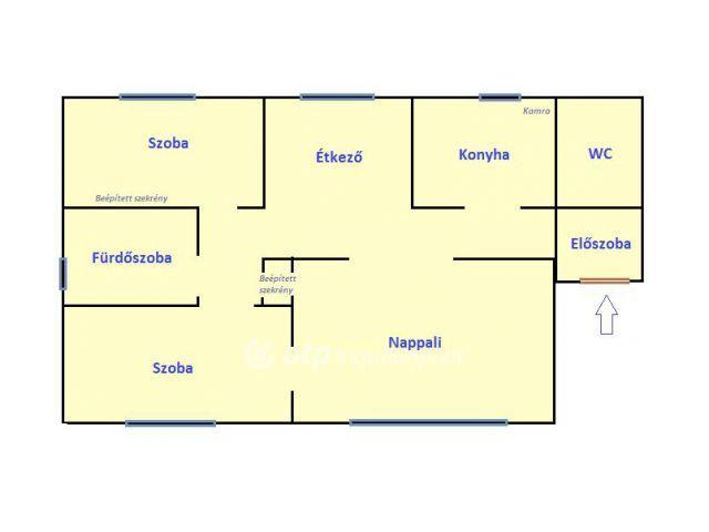 Eladó téglalakás, Abaújszántón 5.99 M Ft, 3 szobás