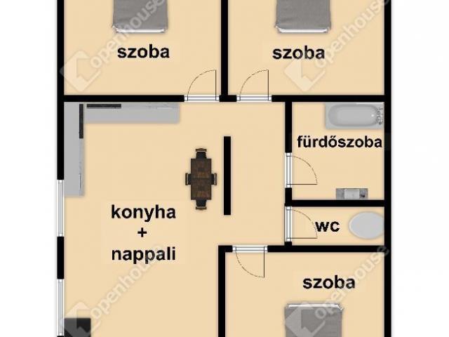 Eladó ikerház, Andornaktályán 43.5 M Ft, 4 szobás