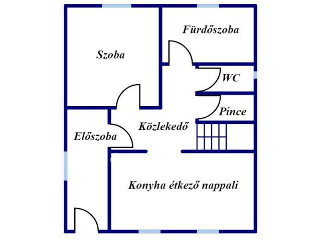 Eladó családi ház, Verpeléten 12.5 M Ft, 1+2 szobás