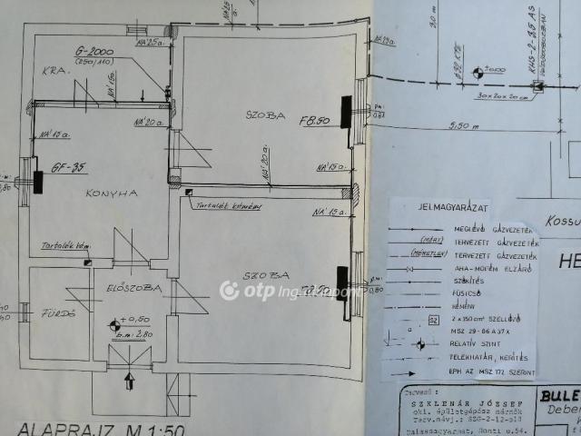 Eladó családi ház, Debercsényen 7.5 M Ft, 3 szobás