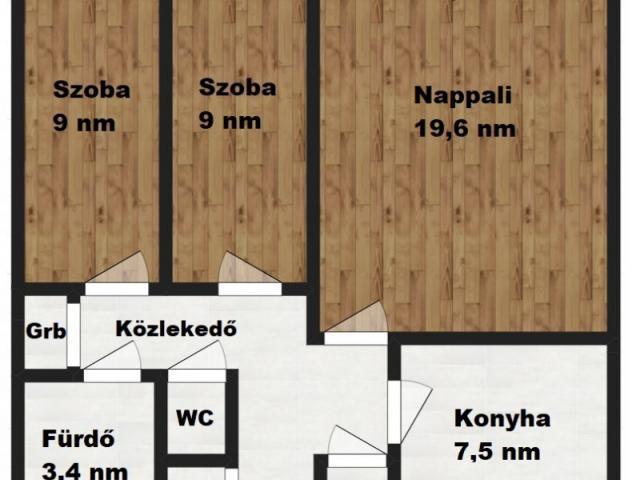 Eladó téglalakás, Zalaegerszegen 17.999 M Ft, 1+2 szobás