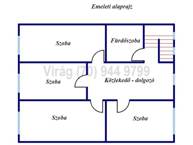 Eladó ikerház, Mikepércsen 53.5 M Ft, 5 szobás