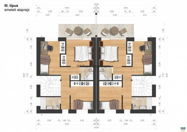 Eladó ikerház, Pécsett 49.5 M Ft, 4 szobás