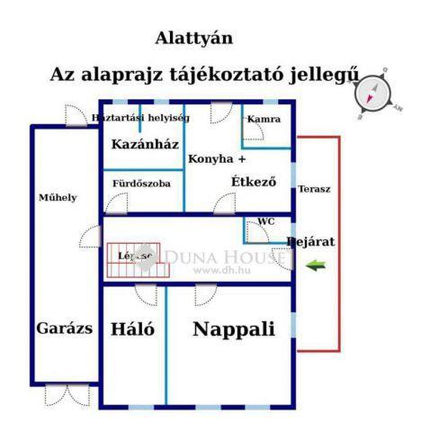 Eladó családi ház, Alattyánban, Déryné utcában 12.6 M Ft